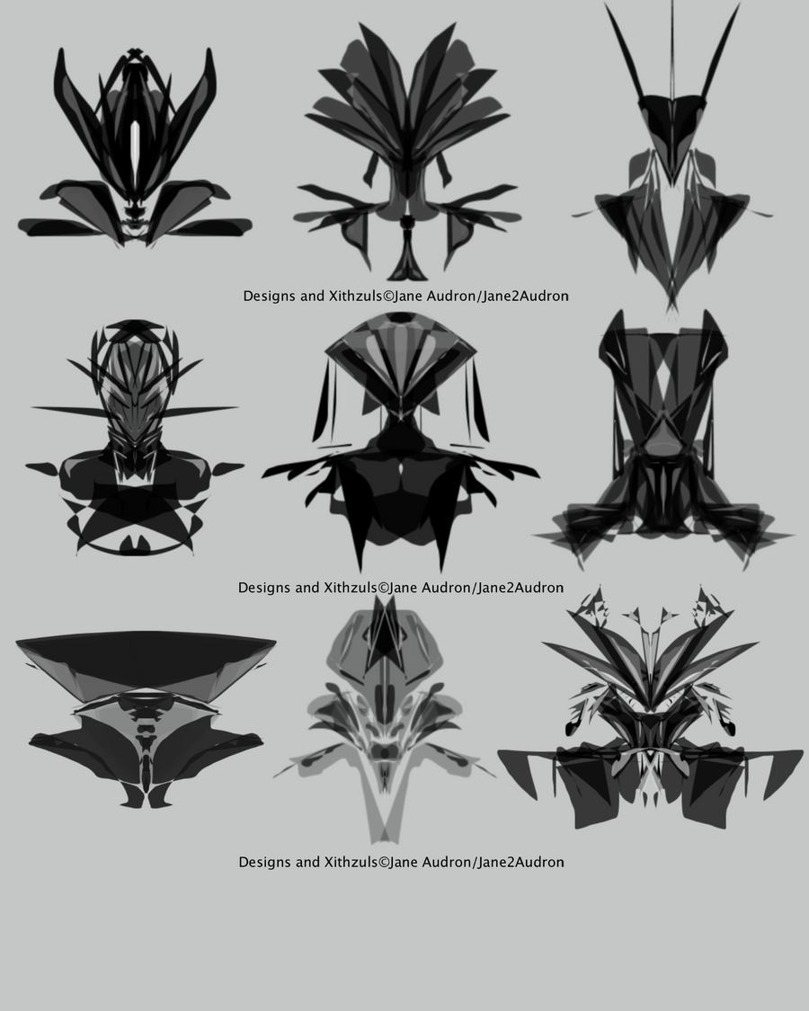 Xithzul Head Types by Jane2Audron