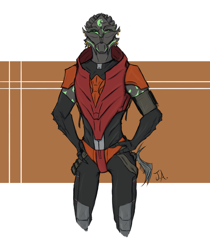 Gift: Fem Turian by Jane2Audron