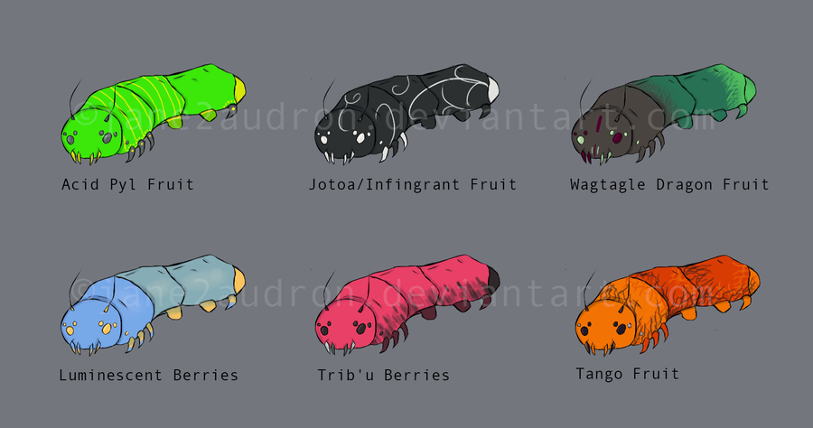 Cotton Candy Spider Grubs Adoptables by Jane2Audron