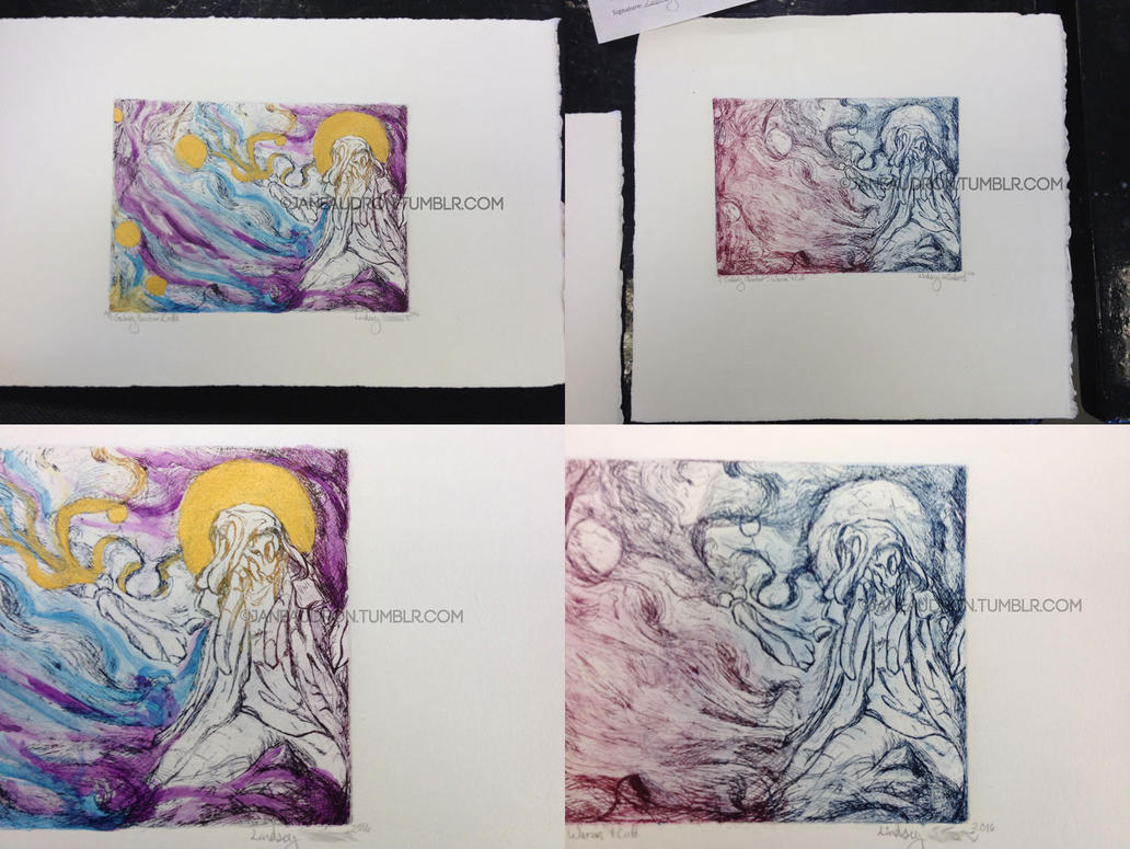 Printmaking HW - Galaxy Painter 1 by Jane2Audron