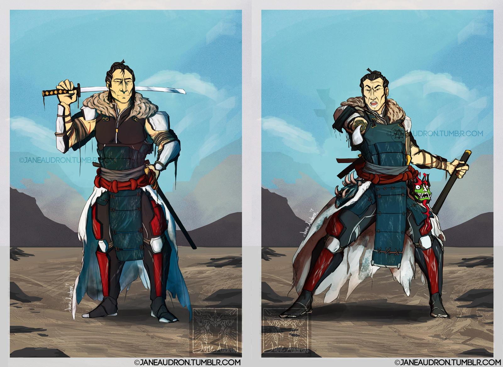 Illust. Proj. 2 - XCOM Samurai Jack(Colored) by Jane2Audron