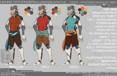 Character Sheet - NP: VEGA by Jane2Audron
