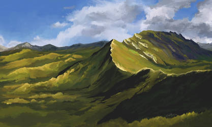 (study) Mountains and Clouds