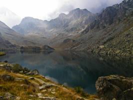 Lake over Alps... by eDarKknight