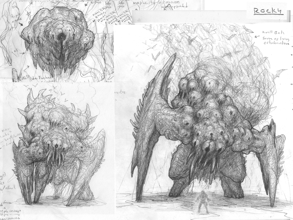 Early Rocky (Behemoth) Drawings by ScottFlanders