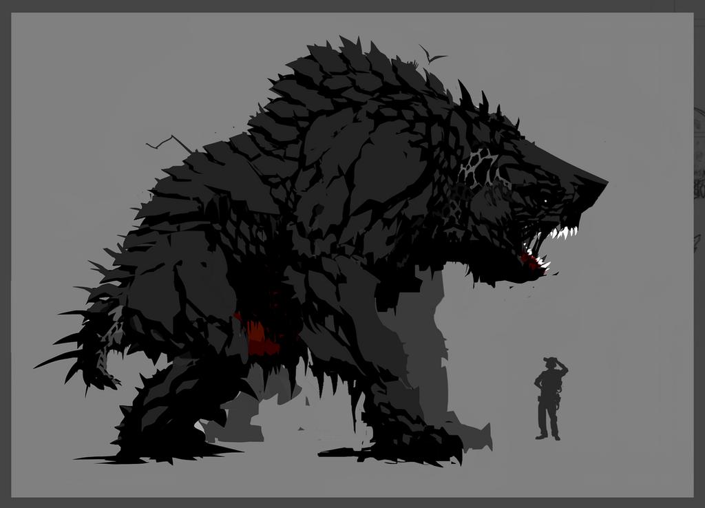 Tar Pit Bear (Behemoth) Sketch by ScottFlanders
