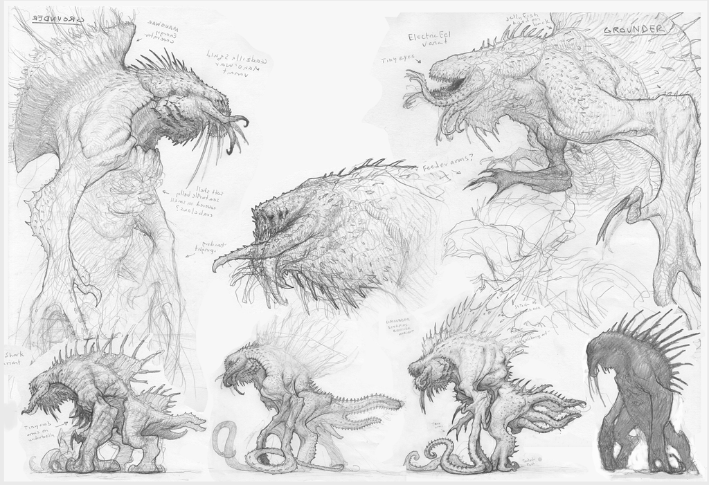 Grounder (Kraken) Drawings 2 by ScottFlanders