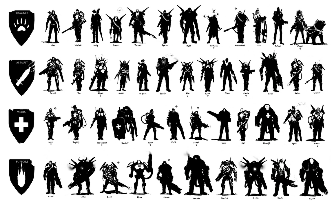 Character Design Silhouette Tutorial : Evolve character silhouettes by scottflanders on deviantart