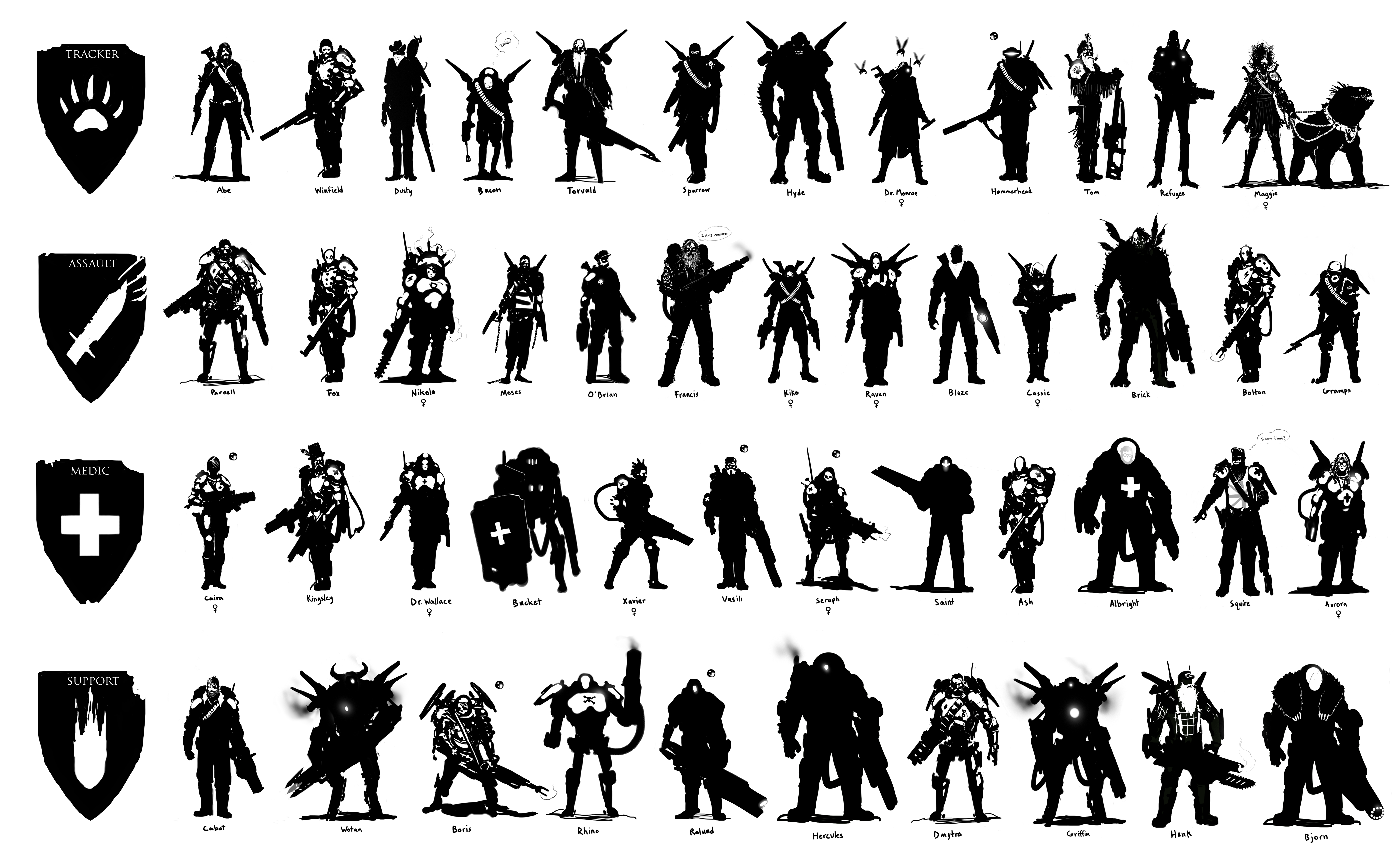 how to draw character silhouette