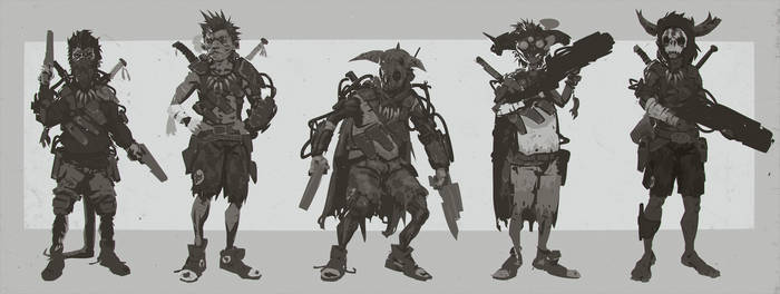 Evolve Trapper 'Jack' Character Concepts