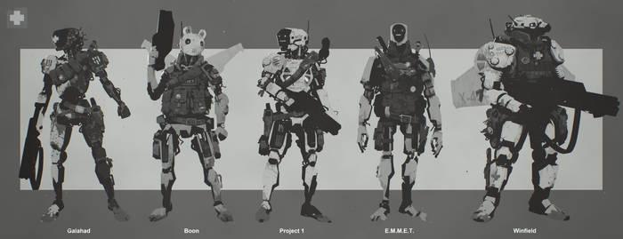 Evolve Medic 'EMET' Character Concepts