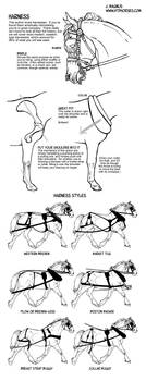 How to draw tack Harness