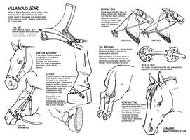 Drawing the Darker Side of Horse Gear