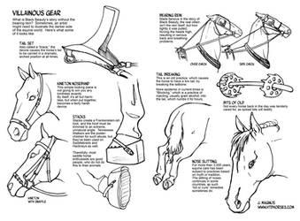 Drawing the Darker Side of Horse Gear by sketcherjak