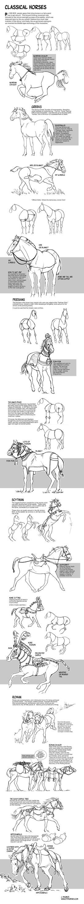 How to Draw Horses of the Classical World by sketcherjak