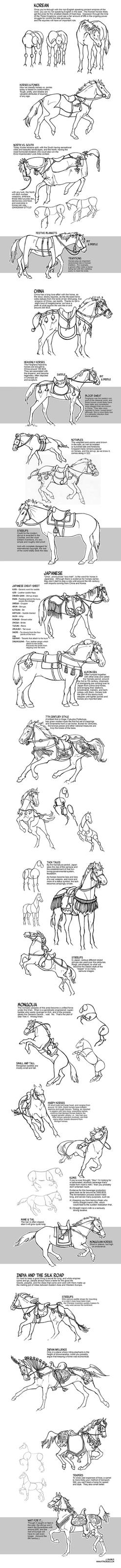 Historic Asian Horses by sketcherjak
