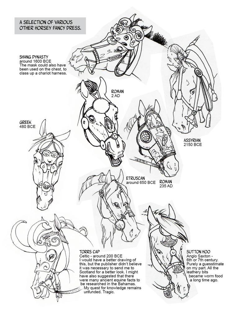 Historic Horse Head Gear Part 2 by sketcherjak