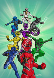 Power Rangers Jungle Fury by stratosmacca