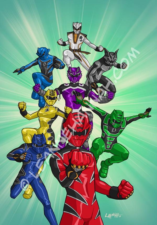 Power Rangers Art by stratosmacca