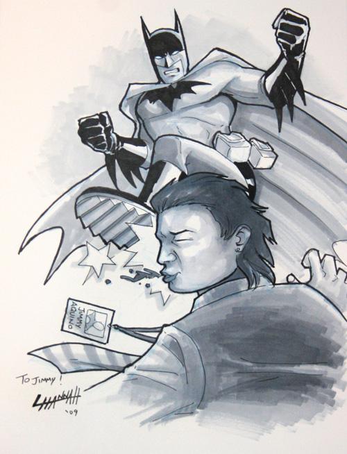 Heroes '09: Batman vs. Jimmy by stratosmacca