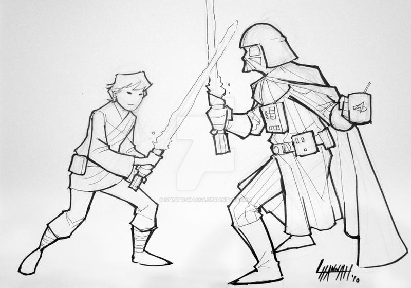 Baltimore 2010: Luke vs Vader by stratosmacca