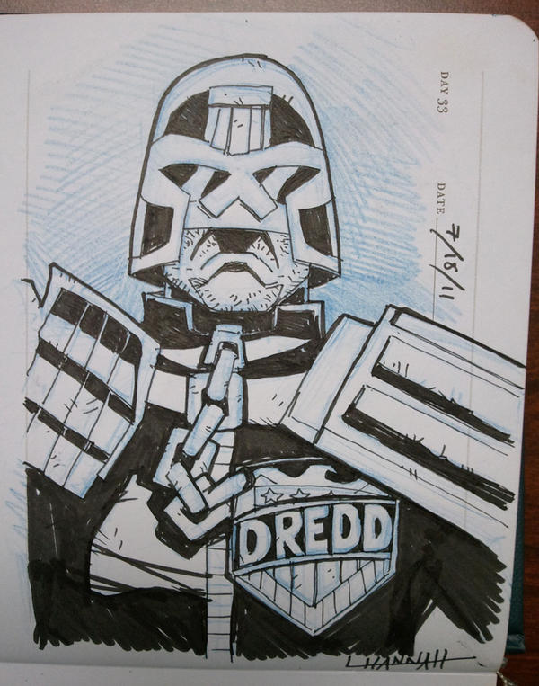 Day 33 - Judge Dredd by stratosmacca