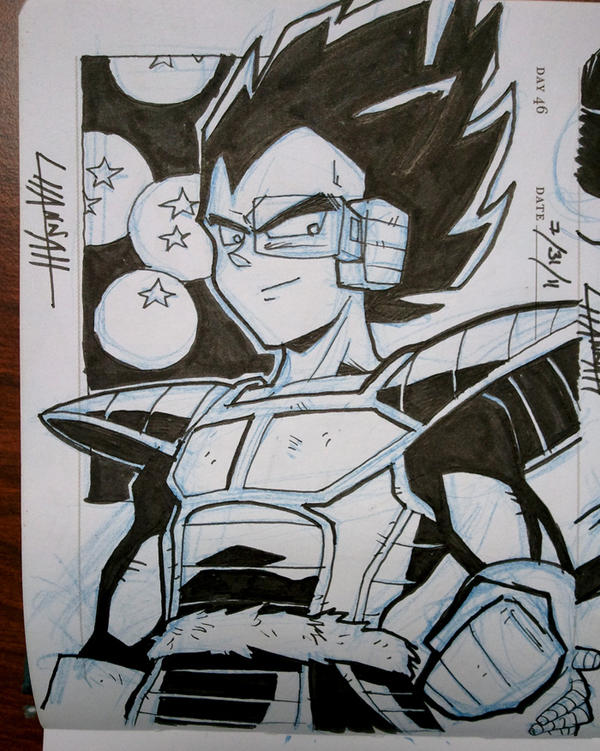 Day 46 - Vegeta by stratosmacca