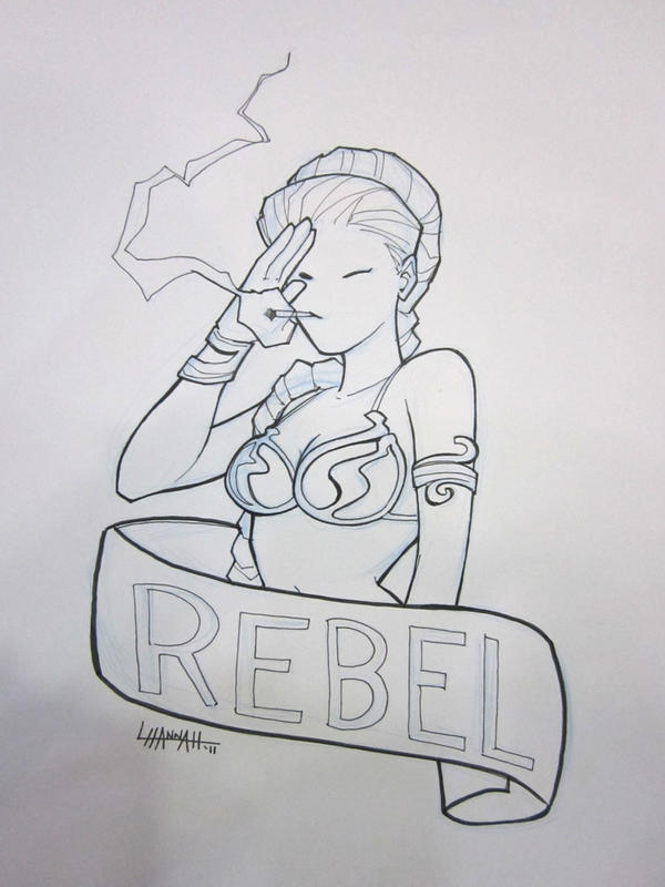 Bmore 2011: Rebel Leia by stratosmacca