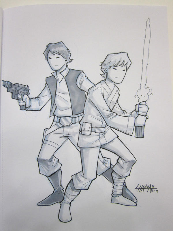 Bmore 2011: Han and Luke by stratosmacca