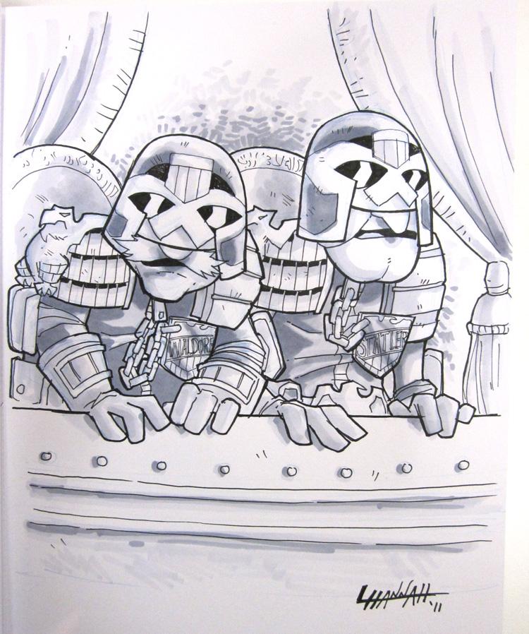 VA Comicon 2011: Muppet Judges by stratosmacca