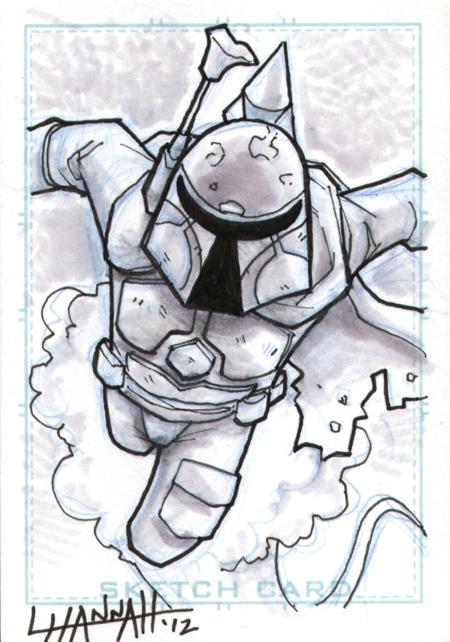 Boba Fett Sketch Card by stratosmacca
