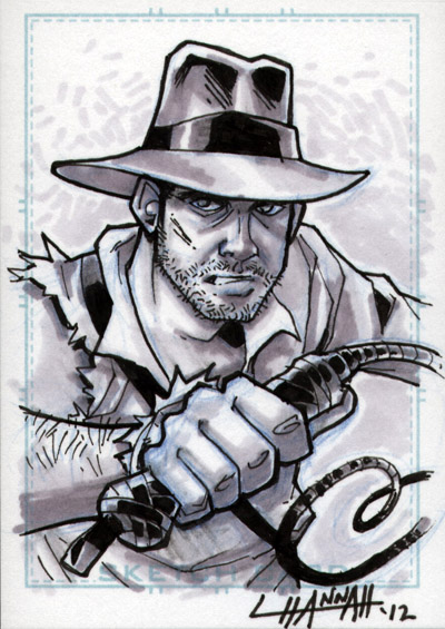 Indiana Jones Sketchcard by stratosmacca