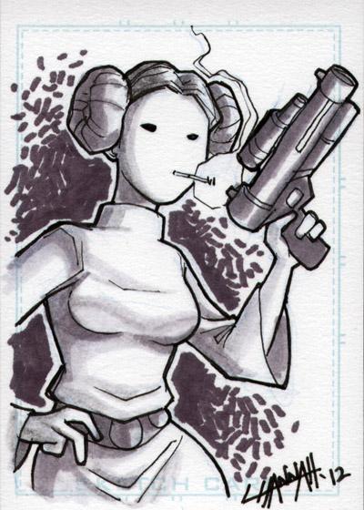 Senator Leia Sketchcard 1 by stratosmacca
