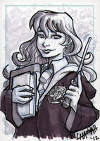 Hermione Granger Sketchcard by stratosmacca