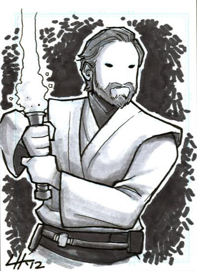 Obi-Wan Sketchcard by stratosmacca