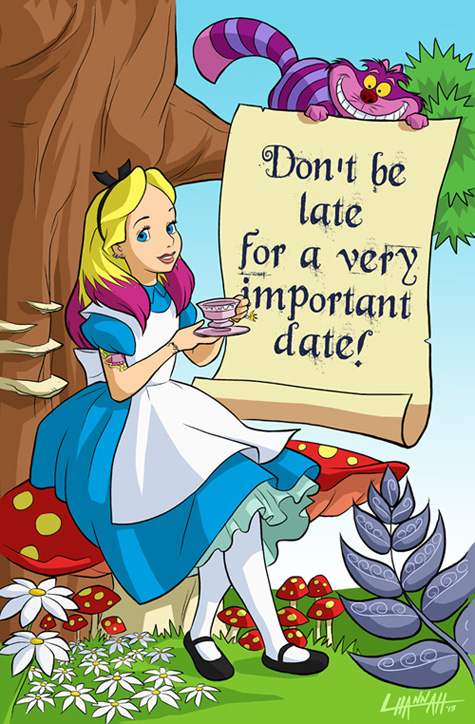 Alice Invitation Cover by stratosmacca
