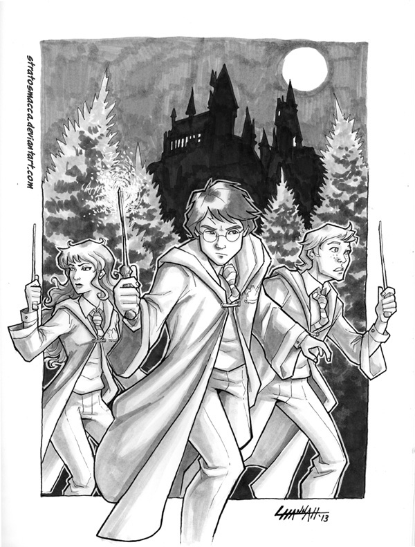 Harry Potter Commission by stratosmacca