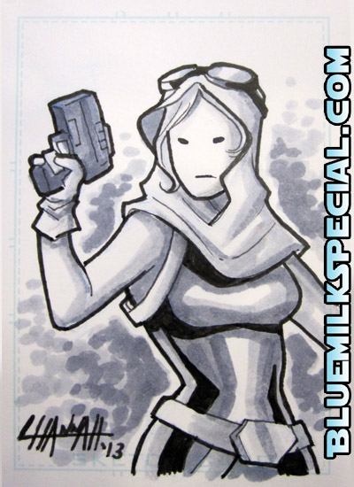 Mara Jade Sketchcard by stratosmacca