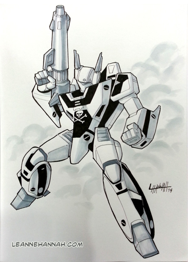 VF-1S Valkyrie Commission by stratosmacca