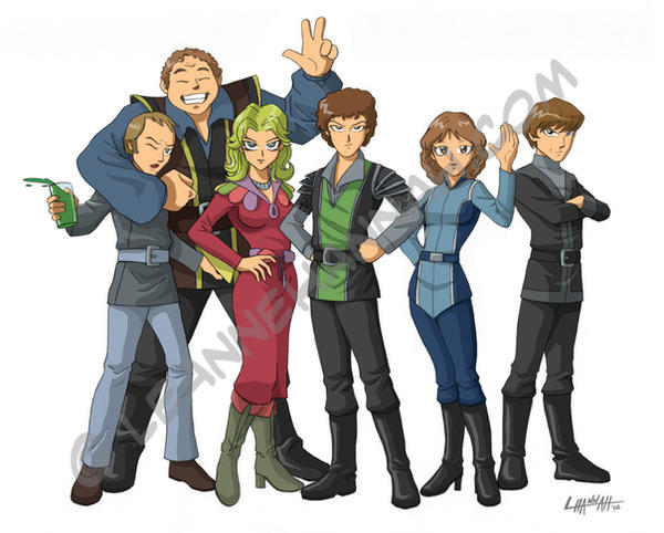 Blakes 7 Anime Style By Stratosmacca