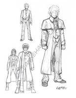 Doctor Who Sketches by stratosmacca