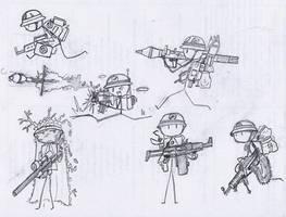 Stick Soldiers by ferret2honey