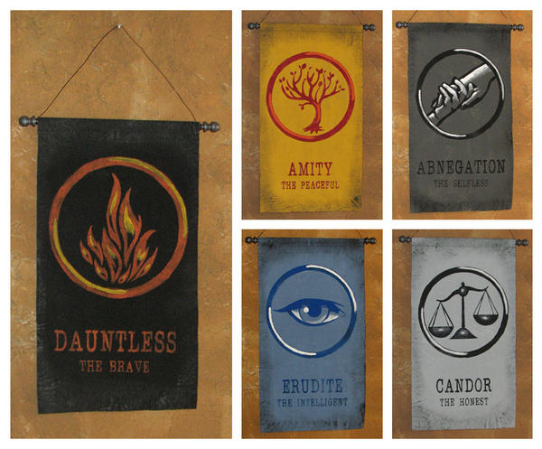 Hand Painted Banners: All Five Divergent Factions by ...