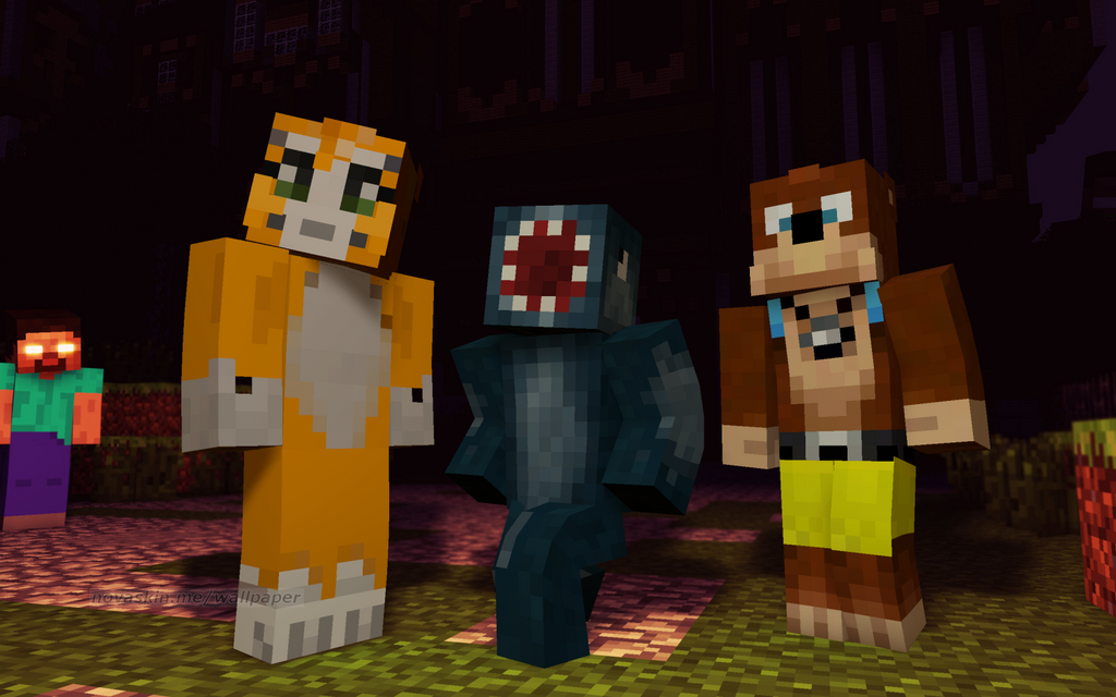 squid and stampy...L For Lee Minecraft Stampy