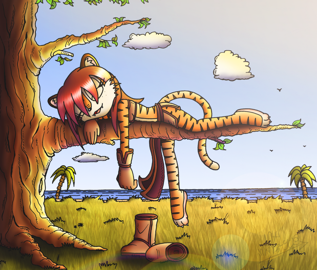 The tigress is sleeping by mARTz-9o