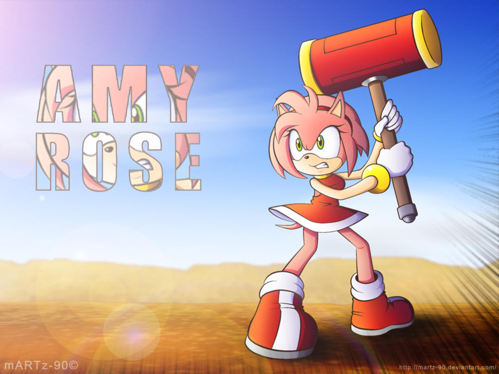 Amy Rose Wallpaper Deviantart: more like amy and