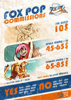 Commissions Pricelist by FOX-POP