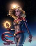Captain Marvel by TheObliviousOwl