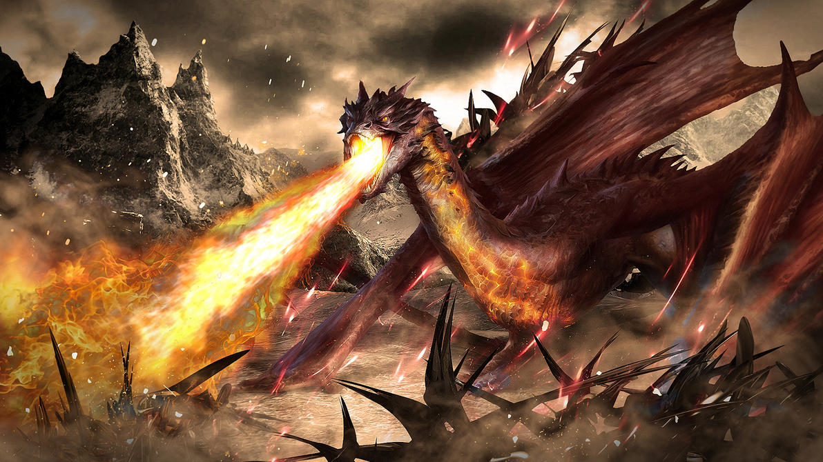Smaug the Terrible 1920 x 1080 Wallpaper by skinny3829 on DeviantArt