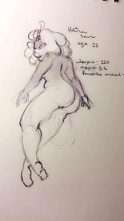 Hana sketch  by Calderone-KittyBomB